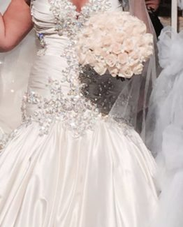 rhinestone beaded plus size wedding dresses