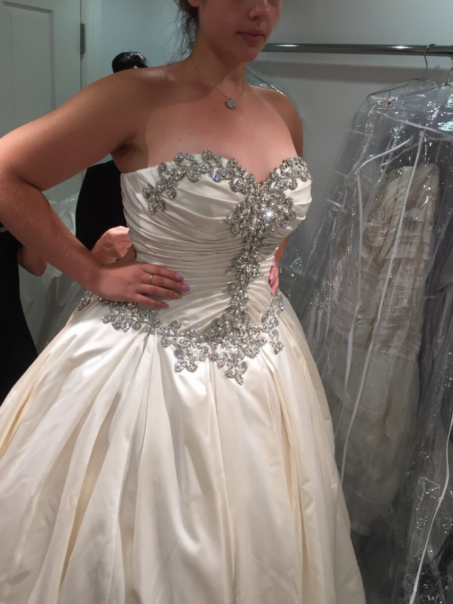 Inexpensive plus size wedding gowns with crystal beading ...