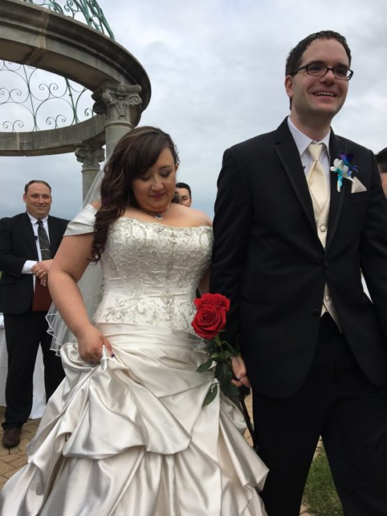 Off the shouler plus size wedding gowns with beaded bodice from Darius Bridal