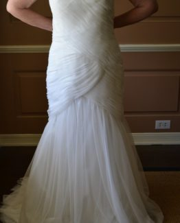 Ruched plus size wedding gowns