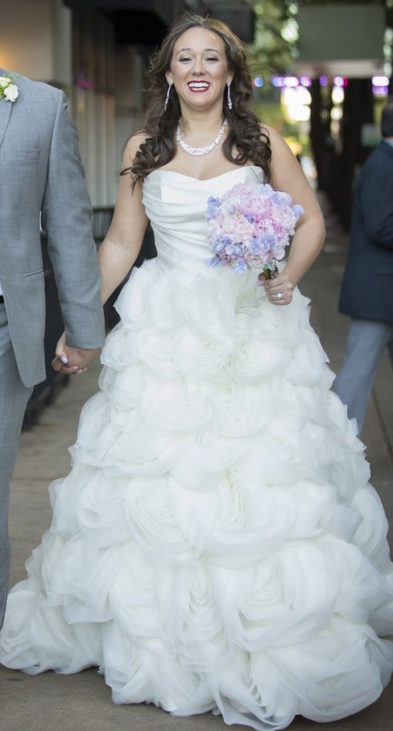 Strapless plus size a-line wedding dresses from Darius Bridal