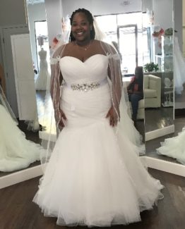 Strapless plus size bridal dresses made to ordr from Darius Bridal