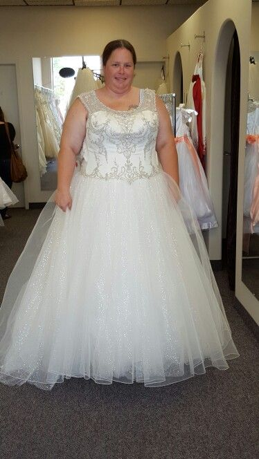 Style #ad2e6 – Plus size wedding gown with beaded bodice from Darius ...