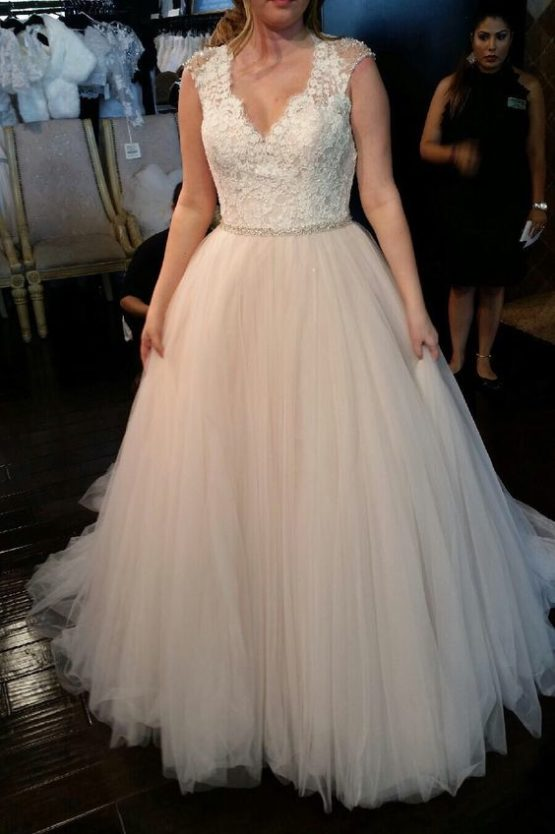 Style #d00263 - Simple lace plus size bridal dress from Darius Customs