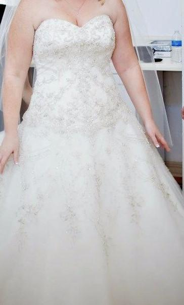 beaded plus size a-line style wedding gown