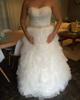 lace plus size ball gown style wedding dress
