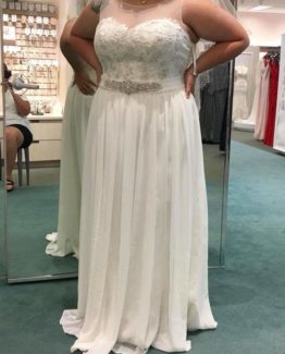 sheer illusion plus size wedding gown from Darius Bridal