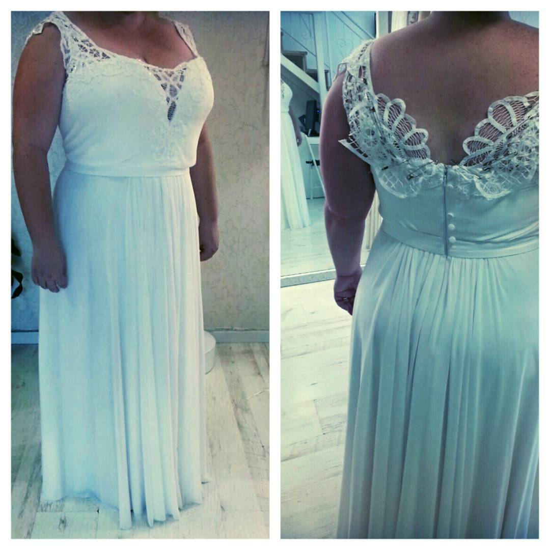 1a48 – Open neck plus size wedding dresses ...