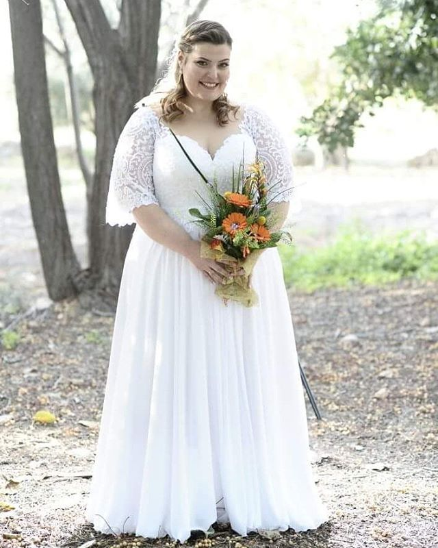 7920 Plus Size Bridal Dresses With Short Lace Sleeves Darius