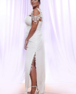Style #PS1411 - 1750 - Cap Sleeve Lace Plus Size Wedding Dress