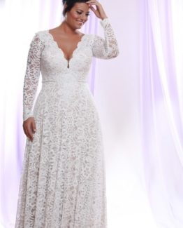 Style #PS1412 - 1950 - Darius Cordell Detachable Long Sleeve Wedding Dress for Plus Size Bride