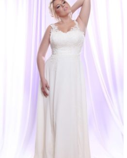 Style #PS1418 - 1750 - Plus Size Wedding Dress with Lace Straps