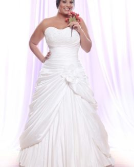 Style #PS1419 - 1750 - Strapless Plus Size Wedding Dress with gathers and pick ups