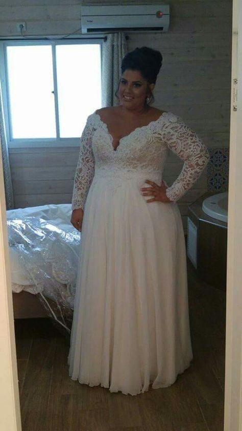 Bb93 plus size empire waist wedding gowns darius fashions for Empire waist plus size wedding dress