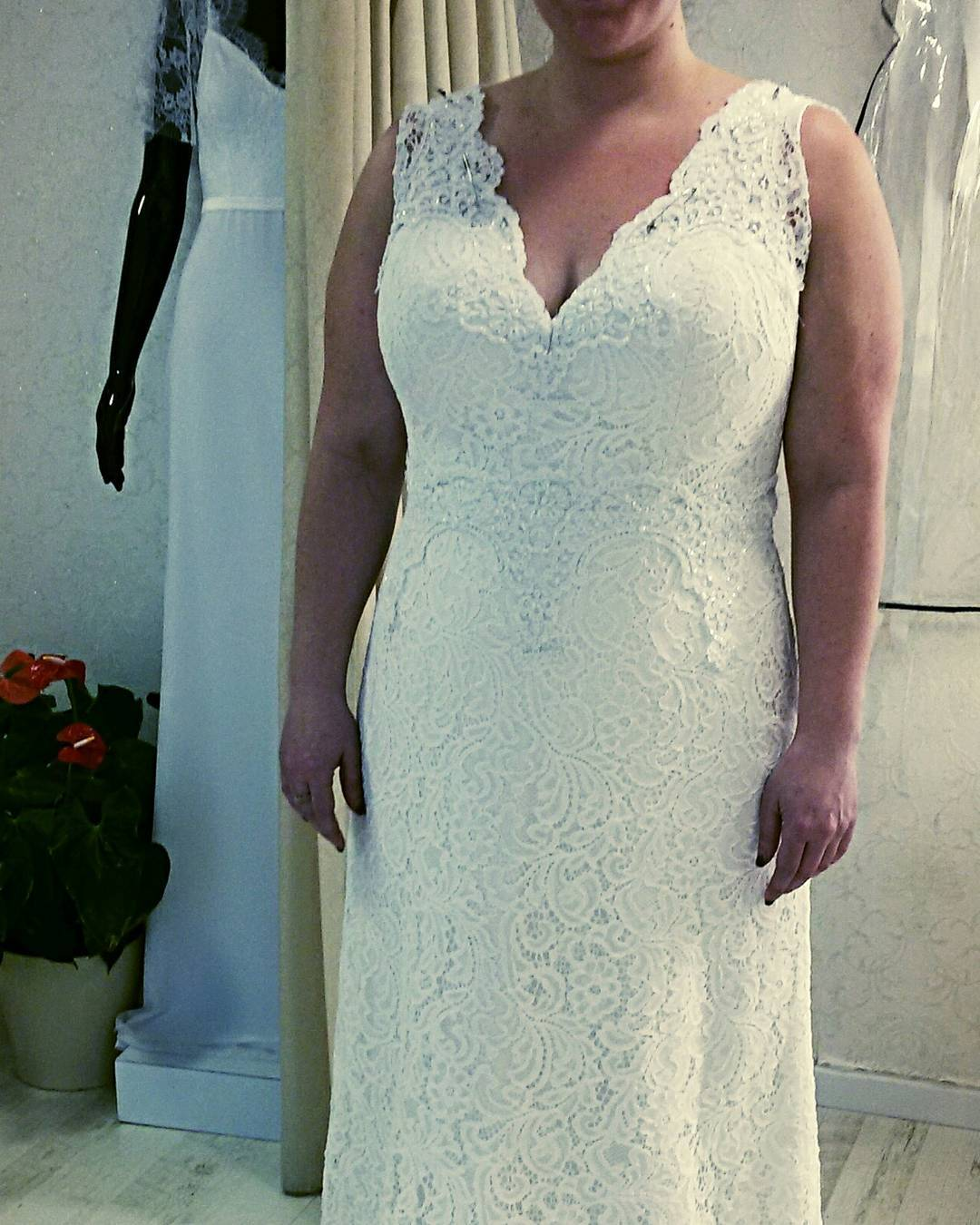 e9f0 – v-neck plus size bridal gowns – – Darius Fashions